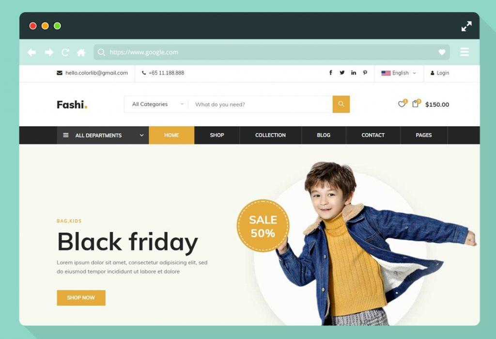 homepage ecommerce